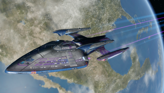 U.S.S. Marduk Heading out on patrol.